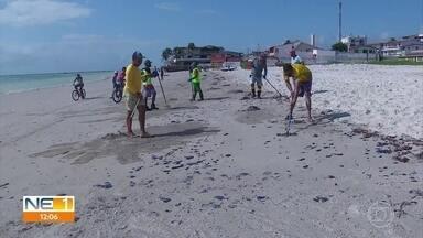 Com registro de óleo em Itamaracá, sobe para dez o número de praias atingidas em PE - Manchas da substância chegaram às praias do Pilar e Jaguaribe.