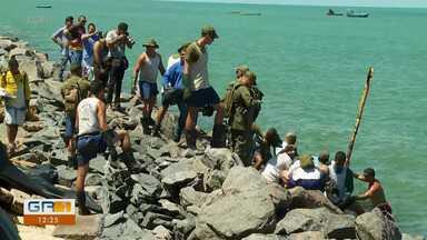 Oléo nas praias do litoral de Pernambuco mobiliza setores do poder público e da sociedade - Mais duas praias do litoral pernambucano foram atingidas.