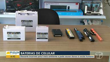 Descarte de baterias de aparelhos eletrônicos precisa ser feito de forma adequada - Destino correto de baterias ajuda a prevenir danos à saúde humana e polui menos o meio ambiente.