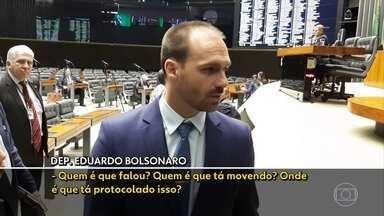 Parlamentares do PSL pedem expulsão de Eduardo Bolsonaro - Pedido foi protocolado nesta quinta-feira