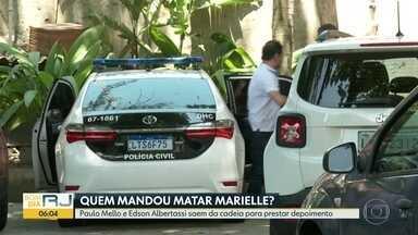 Dois ex-deputados estaduais depõem sobre morte de Marielle - Paulo Mello e Edson Albertassi saíram da cadeia para depor.
