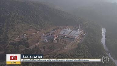 G1 no BDMG: Vale terá que adotar novas medidas para garantir água em BH - Um acordo firmado com a Justiça, determina que a mineradora perfure poços artesianos. O Sistema Paraopeba está suspenso desde o rompimento de barragem em Brumadinho, há nove meses.