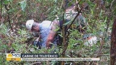 Concluído laudo da investigação sobre queda de teleférico - Caso foi no mês de Setembro em Poços de Caldas, problema estava na conexão de peças da cabine.