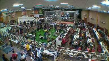 Estudantes participam da Olimpíada Brasileira de Robótica em Rio Grande - Essa é a primeira vez que o Rio Grande do sul recebe o evento.