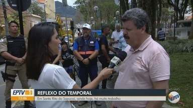 Santa Rita do Sapucaí segue trabalhos de recuperação após temporal de quinta-feira - Santa Rita do Sapucaí segue trabalhos de recuperação após temporal de quinta-feira