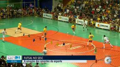 Amantes do futsal foram conferir jogo com a participação do jogador Falcão - jogo aconteceu no Ginásio do Sesc em Petrolina.
