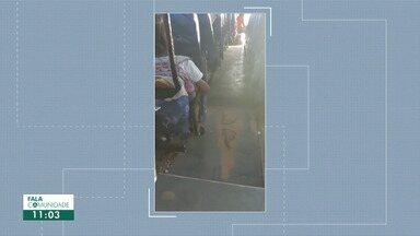 Vídeo mostra crianças sendo transportadas em ônibus em péssimas condições em RR - Problema foi denunciado na cidade de Bonfim, ao Norte do estado.