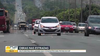 Motoristas reclamam das condições das pistas do DF - Eixão passa por obras que devem ser finalizadas em fevereiro do ano que vem.