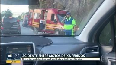Batida de frente entre duas motos perto Campos do Jordão - Rodovia Floriano Rodrigues Pinheiro ficou interditada por uma hora e meia neste domingo (27)