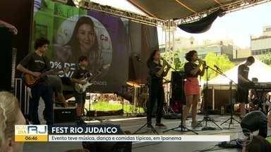 Evento judaico tem música, dança e comidas típicas, em Ipanema - A maior festa judaica do Rio, a Fest Rio Judaico, faz parte do calendário oficial da cidade.