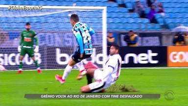 Grêmio volta ao Rio de Janeiro com time desfalcado para enfrentar o Vasco - A partida será transmitida pela RBS TV nesta quarta-feira, as 21h30.
