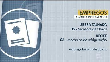 Confira vagas disponíveis na Agência do Trabalho - Há oportunidades de emprego no Recife e também no interior do estado.