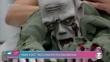 Brasileiros estão aderindo à comemoração do Halloween - Patrícia e Fabrício mostram decorações divertidas que podem ser encontradas em lojas nacionais