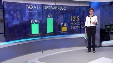 Desemprego fica em 11,8% em setembro e atinge 12,5 milhões de brasileiros - Emprego sem carteira assinada e trabalho por conta própria seguem em patamar recorde, segundo o IBGE.