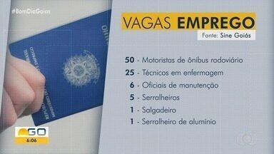 Veja vagas de emprego em Goiás - Há oportunidades para várias áreas de trabalho.