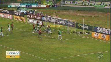 Guarani volta a jogar bem e vence o Sport no Brinco de Ouro - Com esse resultado, time se distancia da zona de rebaixamento.