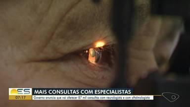 Governo do ES anuncia que vai oferecer 87 mil consultas com neurologista e oftalmologista - Subsecretário Estadual de Saúde explica como vai funcionar o esquema de consultas.