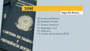 Sine oferece 27 vagas de emprego para Rio Branco nesta sexta-feira (1º); confira a lista - Sine oferece 27 vagas de emprego para Rio Branco nesta sexta-feira (1º); confira a lista