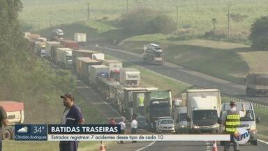 Sete de cada dez colisões são traseiras, aponta concessionária na região de Ribeirão - A distração dos motoristas é o principal motivo.