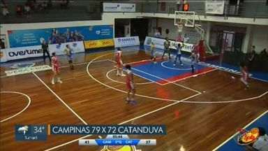 Campinas Basquete vence a terceira consecutiva no estadual e sobe pra vice-liderança - Time feminino subiu na classificação após sequência de vitórias.