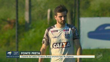 Ponte Preta anuncia lista de atletas dispensados - Gerente de futebol Gustavo Bueno anunciou os atletas que vão deixar o clube.