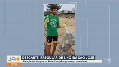 Descarte irregular de lixo preocupa moradores de São José - Descarte irregular de lixo preocupa moradores de São José