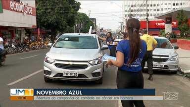 Campanha 'Novembro Azul' é iniciada nesta sexta-feira (1º) - Em Imperatriz, teve uma ação com o ônibus de combate ao câncer, que marcou a abertura das atividades do mês.