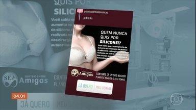 Mulheres denunciam golpe em consórcio de cirurgia plástica - Um golpe está dando o que falar em Pernambuco. Grupo de mulheres é convidado a participar de um consórcio de cirurgia plástica. As propagandas são espalhadas na internet. Algumas vítimas chegam a fazer o pagamento, mas não conseguem a cirurgia.