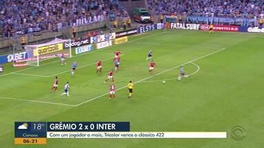 Confira os gols do Gre-Nal 422 deste domingo (3), na vitória do Grêmio - Grêmio venceu o Inter por 2 a 0.