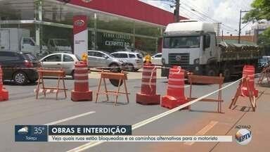Obras de mobilidade urbana interditam vias em Ribeirão Preto - Confira rotas de desvio da Avenida Francisco Junqueira e do cruzamento das avenidas Antônio Diederichsen com Presidente Vargas.