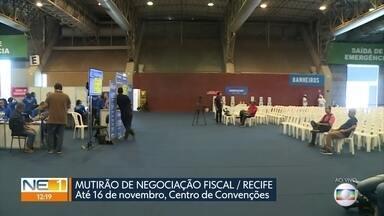 Mutirão oferece descontos para quem está com IPTU atrasado no Recife - Parcelamento em até 48 vezes também pode ser feito no evento, no Centro de Convenções de Pernambuco.
