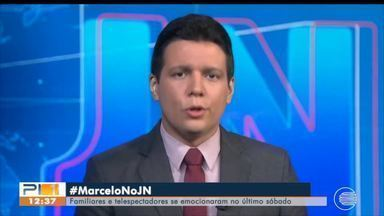 Familiares, amigos e telespectadores se emocionam e vibram com Marcelo Magno no JN - Familiares, amigos e telespectadores se emocionam e vibram com Marcelo Magno no JN