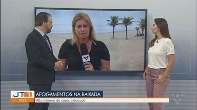 Baixada Santista registra alto número de afogamentos durante feriado - Pelo menos cinco pessoas se afogaram na região durante o fim de semana do feriado de Finados.