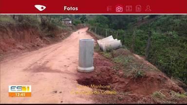 Telespectador diz que está complicado passar por estrada em Conceição do Castelo, ES - Prefeitura disse que máquina quebrou.