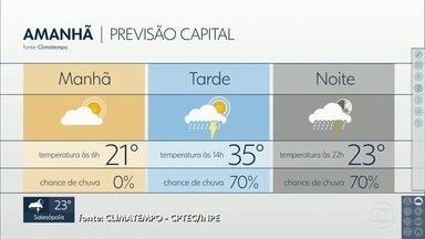 Terça-feira, 04, deve ter chuva em São Paulo - Antes da chuva, a temperatura pode chegar a 35 graus.