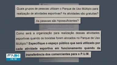 Defensoria Pública acompanha transferência de boxistas do Camelódromo para o PUM - Alunos que fazem atividades nas quadras serão afetados com a medida.