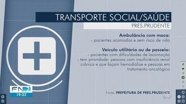 Prefeitura regulamenta serviço de transporte de pacientes em Presidente Prudente - Decreto foi publicado nesta segunda-feira (4).