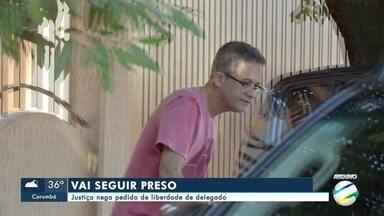 Justiça nega pedido de liberdade de delegado - O delegado foi preso em Aquidauana, suspeito de envolvimento no sumiço de um carregamento de cocaína de dentro da delegacia.