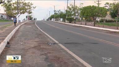 Acidente é registrado em cruzamento em Santa Inês - Acidente envolvendo uma motocicleta e um veículo de passeio aconteceu na segunda-feira (4) na cidade.