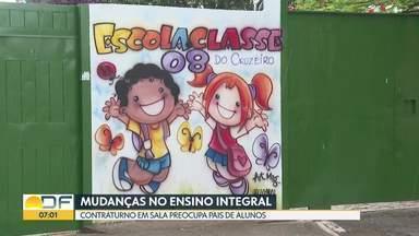 Ensino integral preocupa pais de alunos da Escola Classe 08 no Cruzeiro - Pais pedem melhoria na estrutura da escola antes da mudança no ensino.