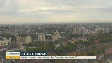 Dia amanhece com chuva tímida nas cidades da região - Máximas de 32°C em Campinas e 35°C em Piracicaba, nesta terça-feira (5).