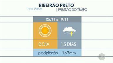 Previsão de chuva e sol para as regiões de Campinas, Ribeirão Preto e São Carlos - Máximas de 33°C em Ribeirão e 35°C em São Carlos, nesta terça-feira (5).