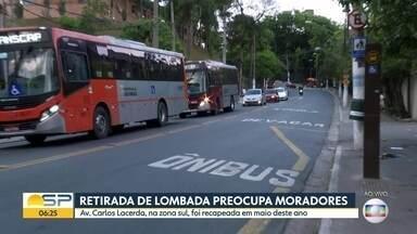 Retirada de lombada preocupa moradores na região da avenida Carlos Lacerda - Prefeitura diz que aguarda o Tribunal de Contas do Município autorizar a licitação para a reinstação da lombada.