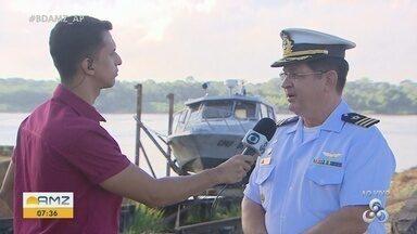 Operação Amazônia Azul: Marinha faz ações na costa do Amapá para evitar manchas de óleo - Mobilização conta com ajuda de pescadores que chegam ao oceano.