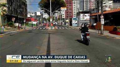 Veja as mudanças no trânsito da avenida Duque de Caxias - Saiba mais em g1.com.br/ce