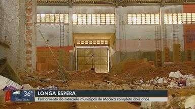 Mercado municipal de Mococa está fechado há dois anos e obras continuam paradas - Um novo orçamento foi feito no valor de R$ 780 mil para a reforma toral do prédio.