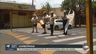 Araraquara tem campanha de conscientização sobre uso correto das lombofaixas - Quem estacionar na faixa de pedestre elevada pode ser multado.