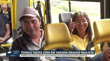 Prefeitura de Vargem Grande começa a operar novo sistema com mais ônibus e sem cobrança - É a primeira cidade da Região Metropolitana com ônibus grátis.