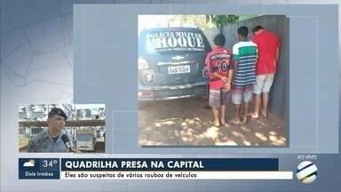 Quadrilha suspeita de vários roubos de veículos é presa em Campo Grande - Prisão foi feita pelo Batalhão de Choque