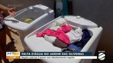 Falta d´água na região da Jardim dos Oliveiras, em Várzea Grande - Falta d´água na região da Jardim dos Oliveiras, em Várzea Grande.
